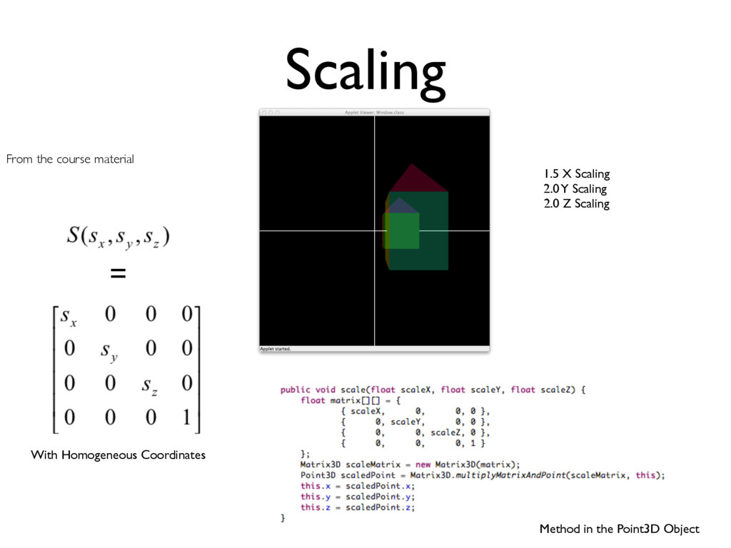 Method in the Point3D Object Scaling From the c...