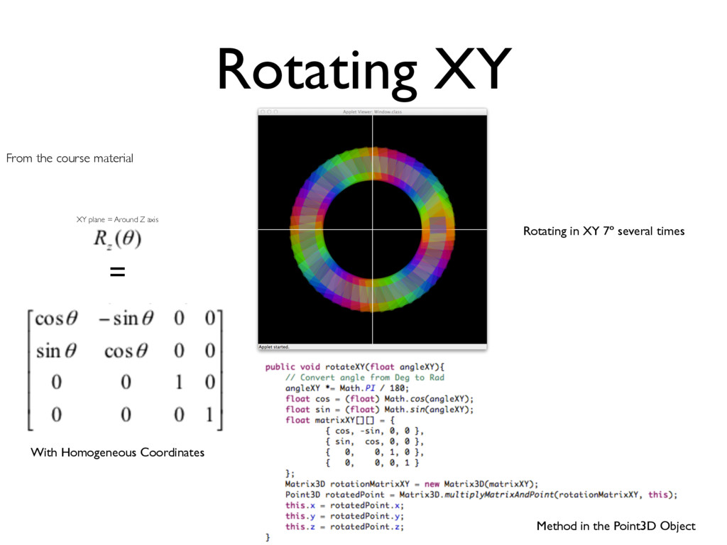 Rotating XY From the course material = With Hom...