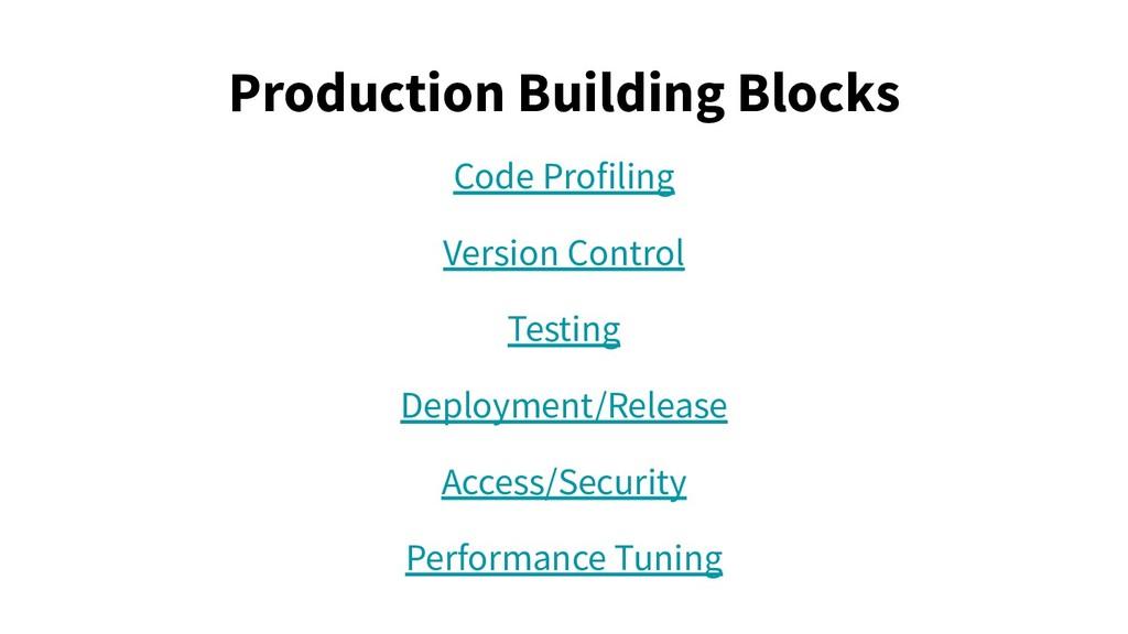 Production Building Blocks Code Profiling Versi...