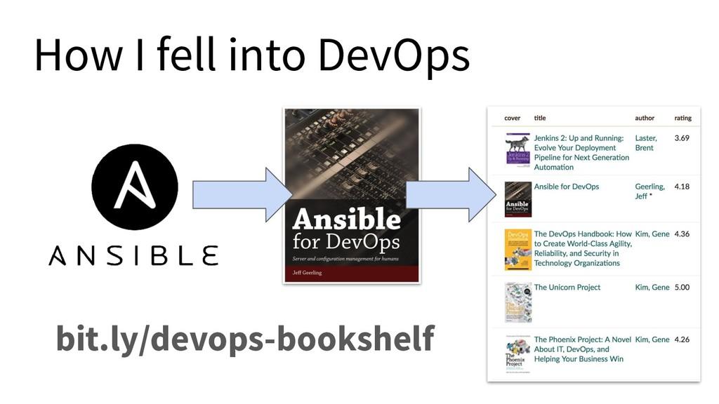 How I fell into DevOps bit.ly/devops-bookshelf