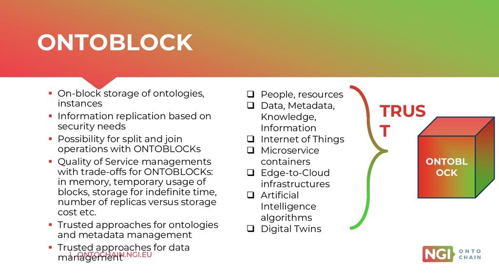 | ONTOCHAIN.NGI.EU ▪ On-block storage of ontolo...