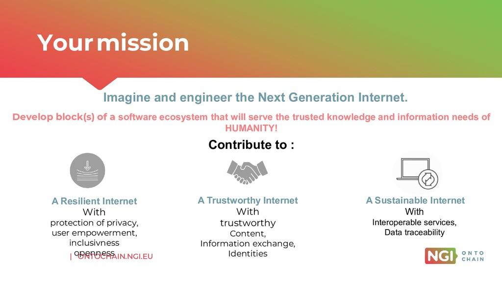 | ONTOCHAIN.NGI.EU Imagine and engineer the Nex...