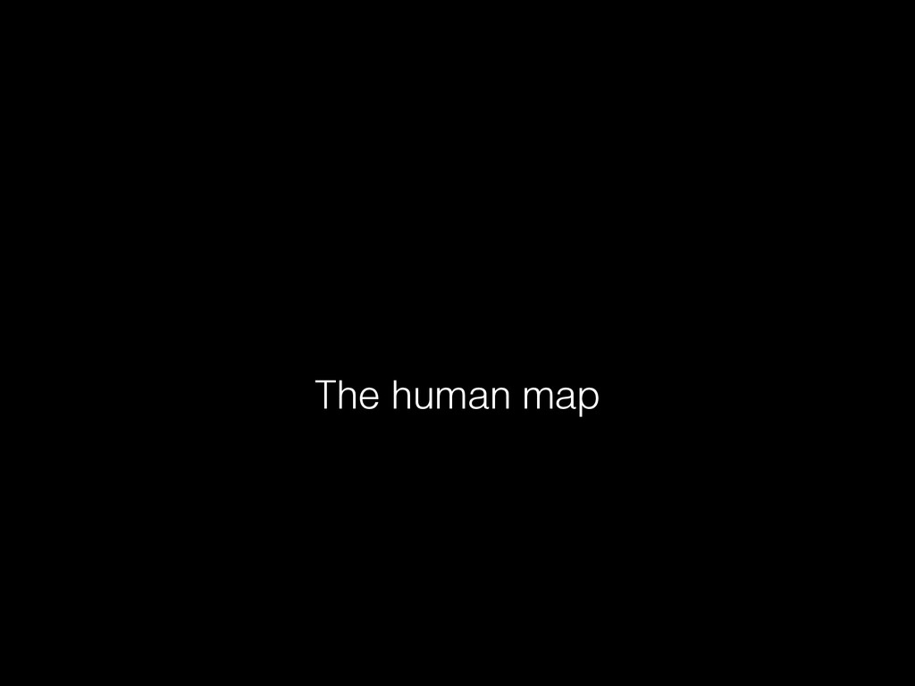 The human map