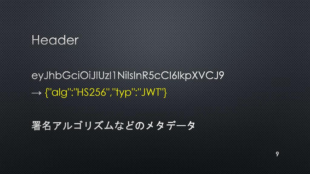 """{""""alg"""":""""HS256"""",""""typ"""":""""JWT""""} 9"""