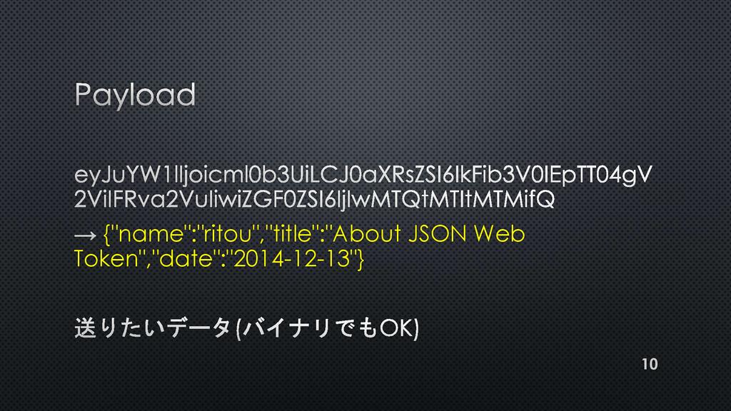 "{""name"":""ritou"",""title"":""About JSON Web Token"",..."