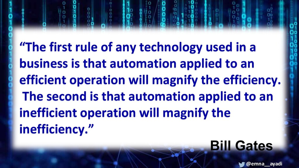 """""""The first rule of any technology used in a bus..."""