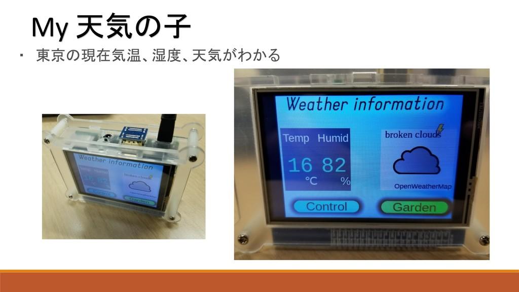 My 天気の子 ・ 東京の現在気温、湿度、天気がわかる