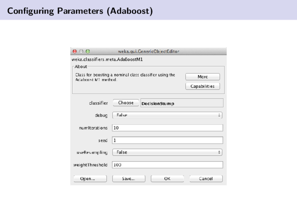 Configuring Parameters (Adaboost)