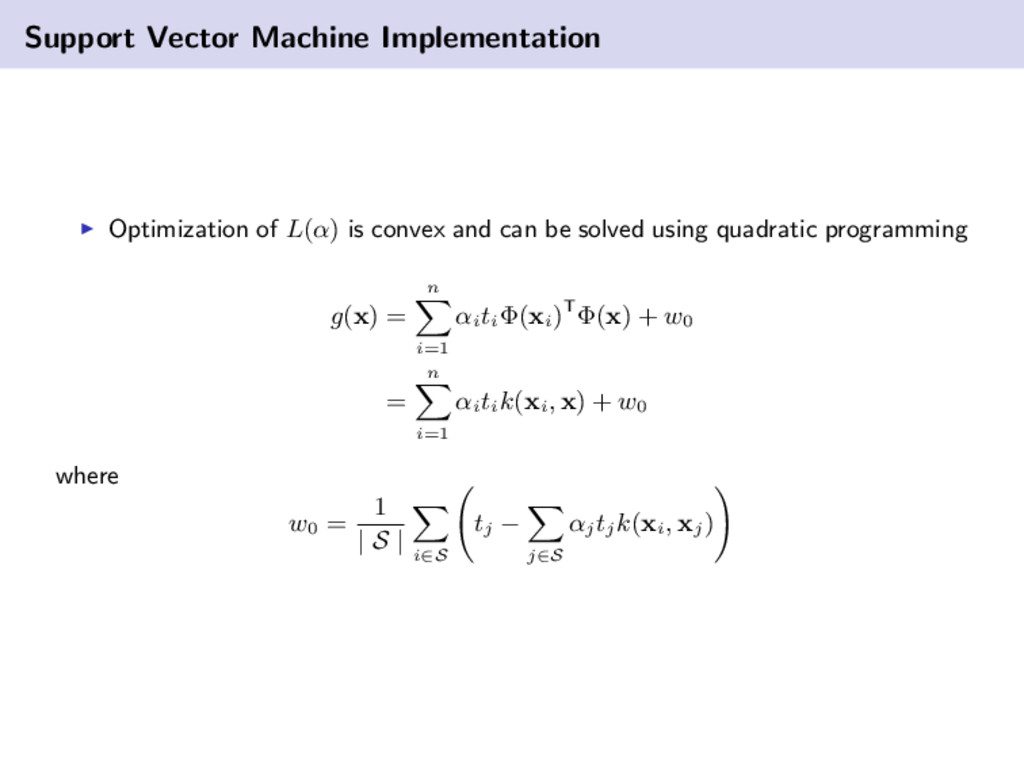 Support Vector Machine Implementation Optimizat...