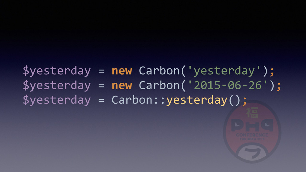 $yesterday	