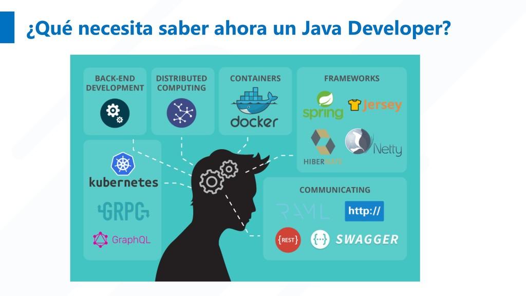 ¿Qué necesita saber ahora un Java Developer?