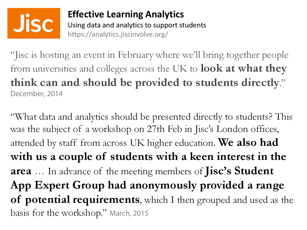 """""""Jisc is hosting an event in February where we'..."""