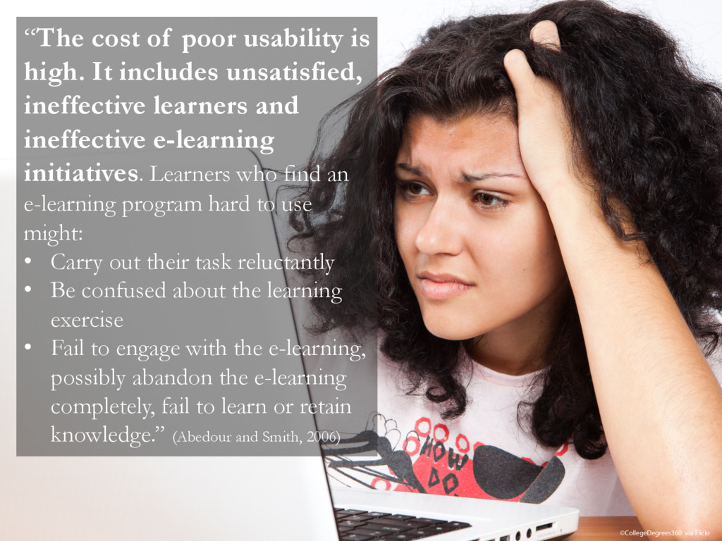 """""""The cost of poor usability is high. It include..."""