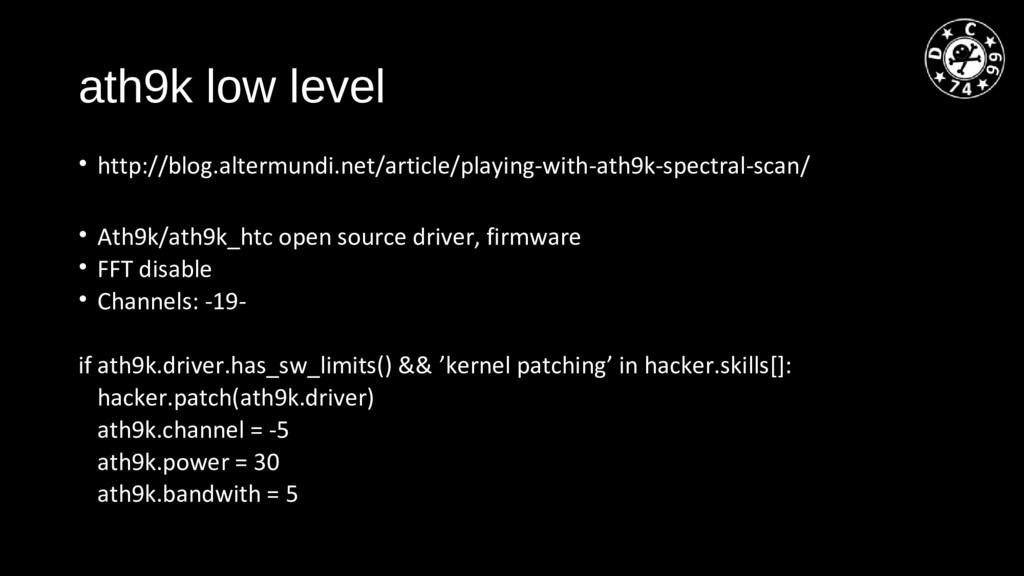 ath9k low level • http://blog.altermundi.net/ar...