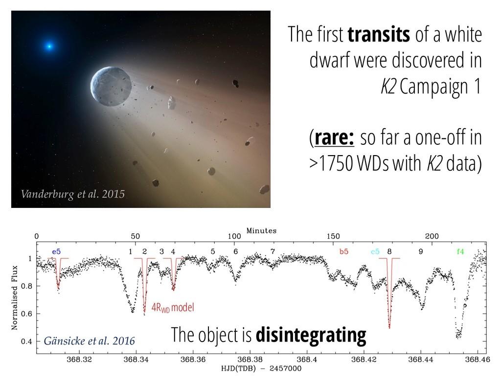 Vanderburg et al. 2015 The first transits of a ...