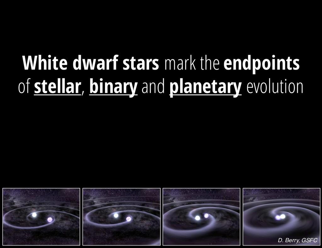 D. Berry, GSFC White dwarf stars mark the endpo...