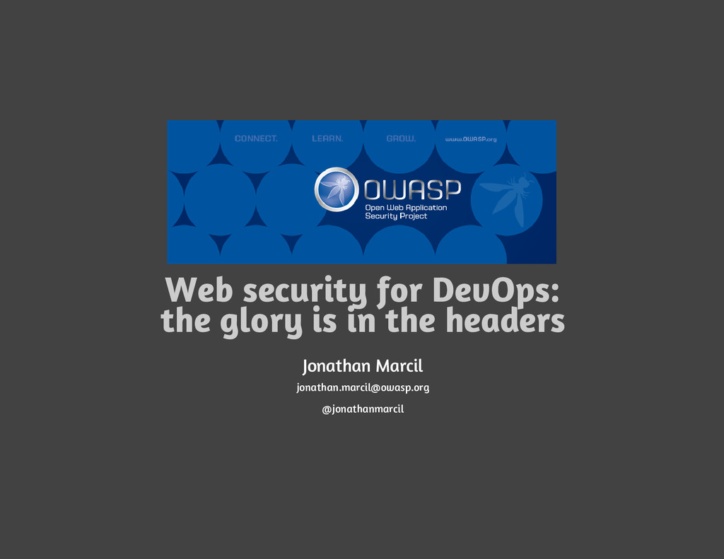 Web security for DevOps: the glory is in the he...