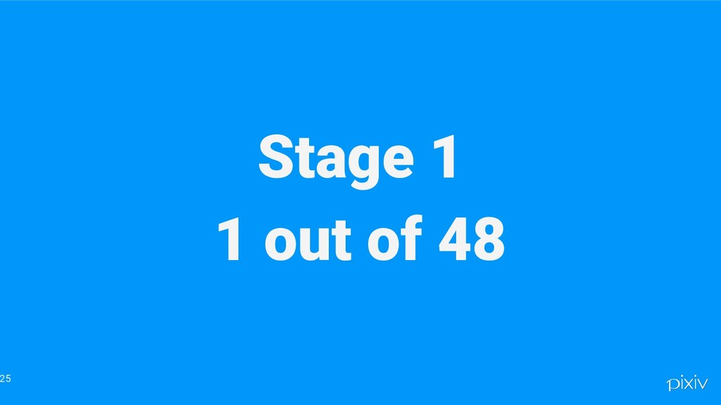 Stage 1 1 out of 48 25