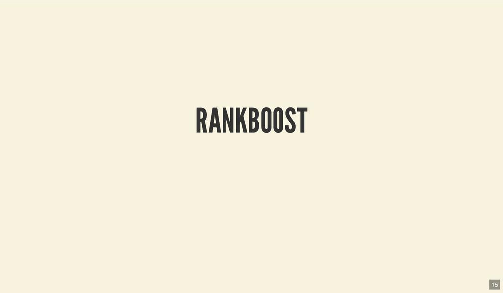 RANKBOOST RANKBOOST 15