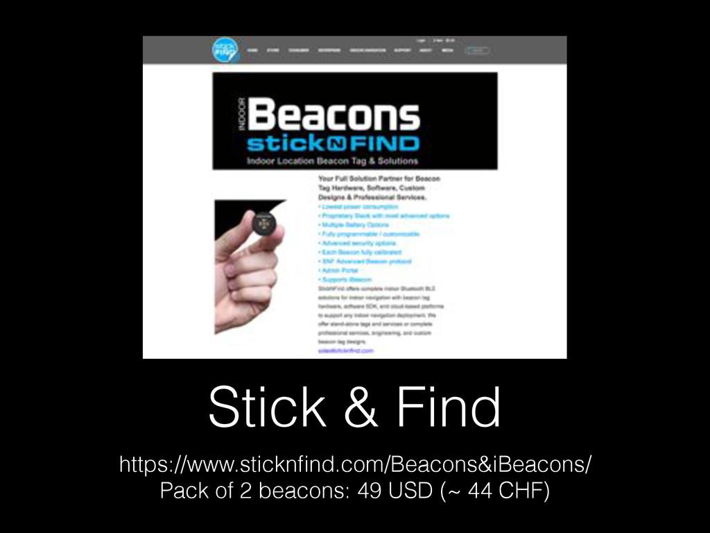 Stick & Find https://www.sticknfind.com/Beacons&...