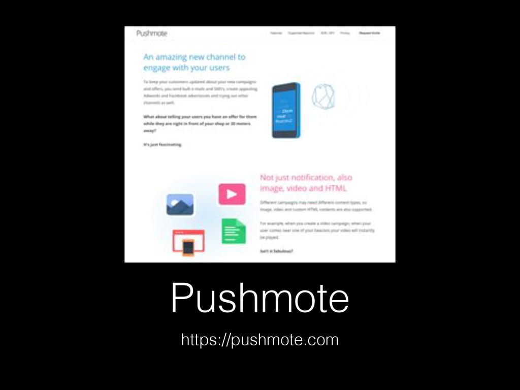Pushmote https://pushmote.com