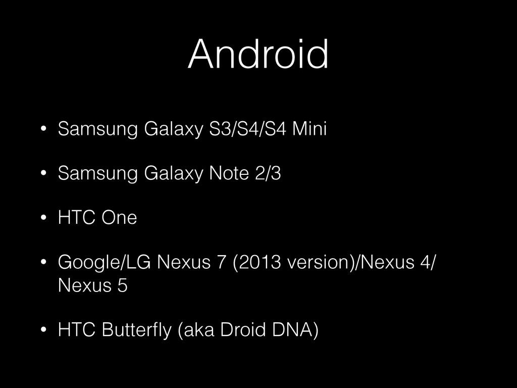 Android • Samsung Galaxy S3/S4/S4 Mini • Samsun...