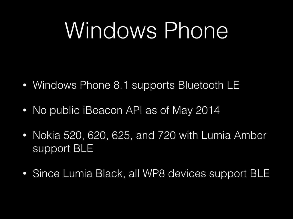 Windows Phone • Windows Phone 8.1 supports Blue...