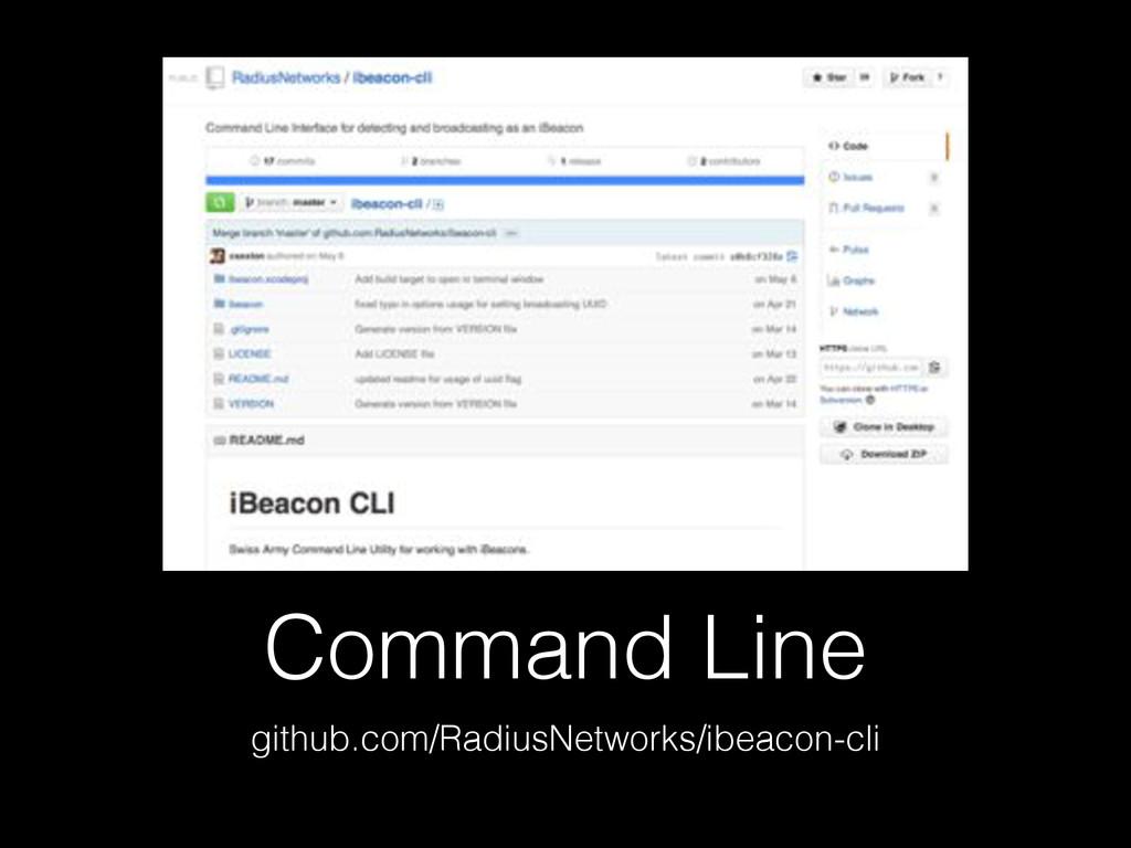 Command Line github.com/RadiusNetworks/ibeacon-...