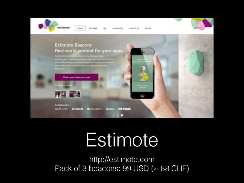 Estimote http://estimote.com Pack of 3 beacons:...