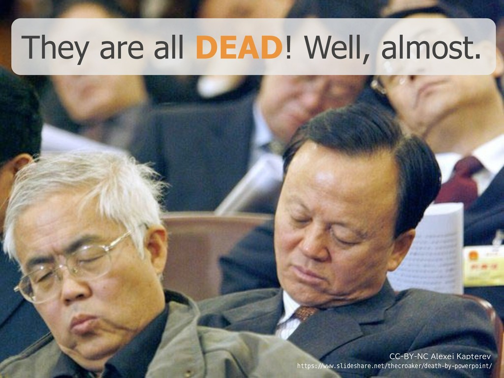 They are all DEAD! Well, almost. CC-BY-NC Alexe...