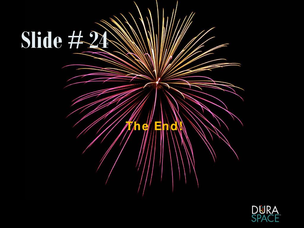 Slide # 24 The End!