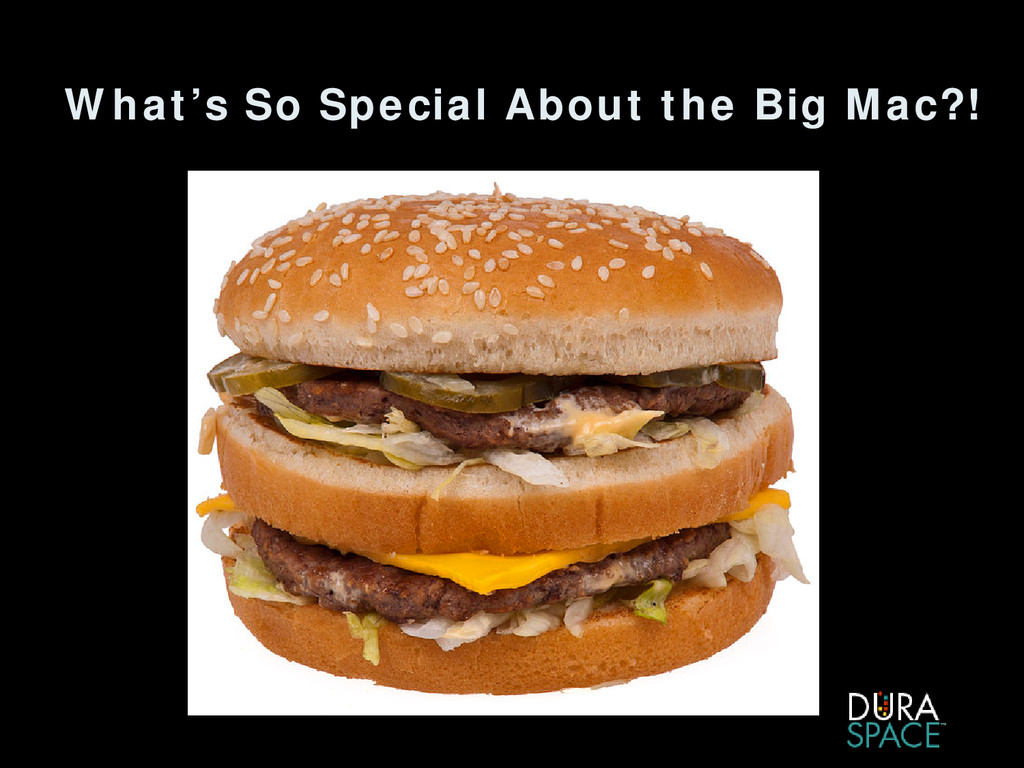What's So Special About the Big Mac?!