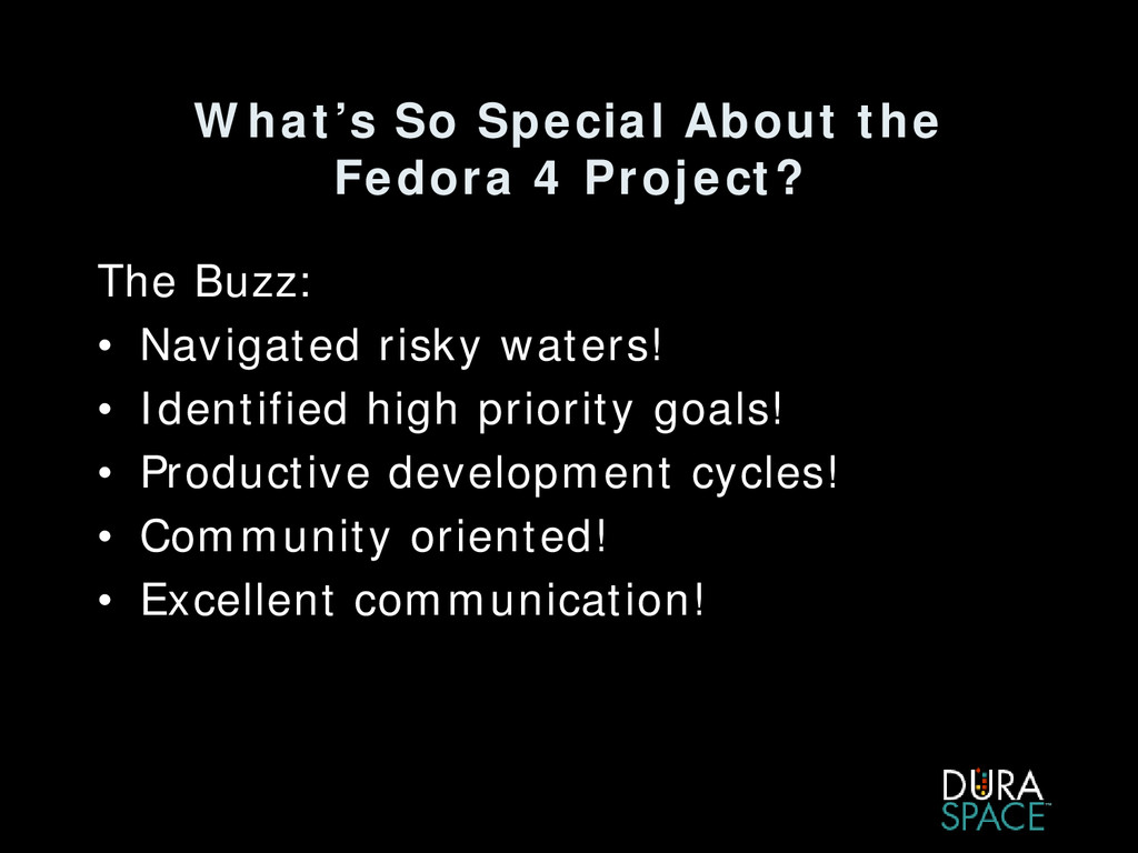 What's So Special About the Fedora 4 Project? T...