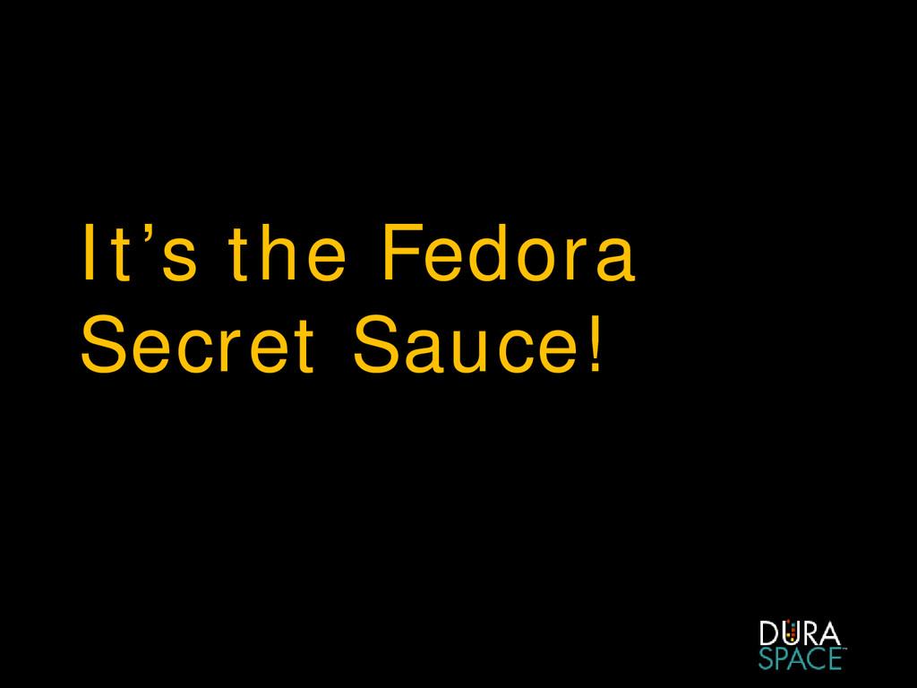 It's the Fedora Secret Sauce!