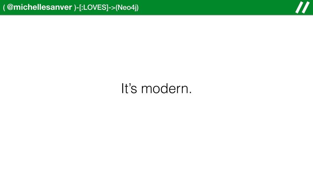 ( @michellesanver )-[:LOVES]->(Neo4j) It's mode...