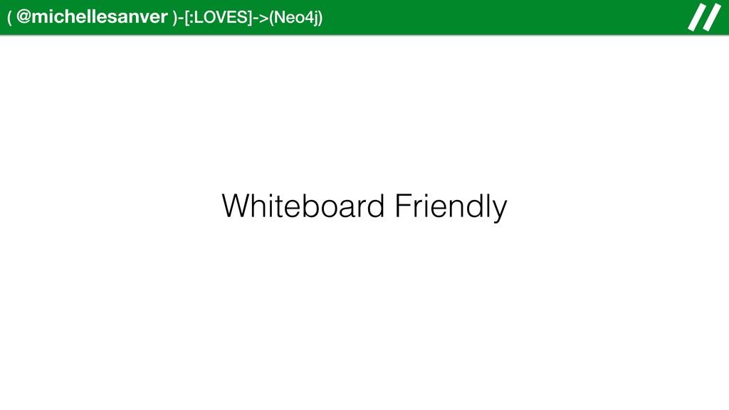 ( @michellesanver )-[:LOVES]->(Neo4j) Whiteboar...