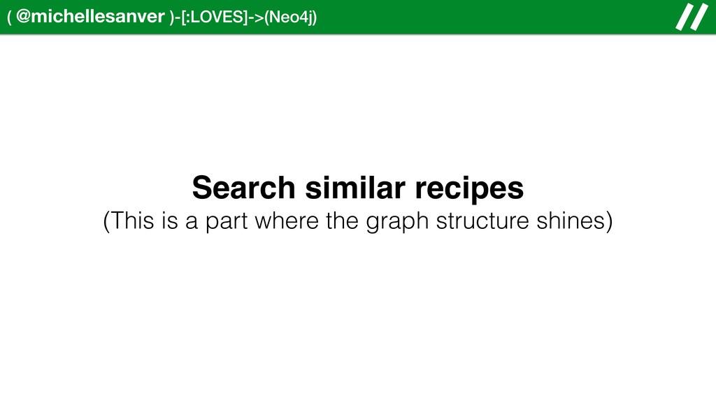 ( @michellesanver )-[:LOVES]->(Neo4j) Search si...