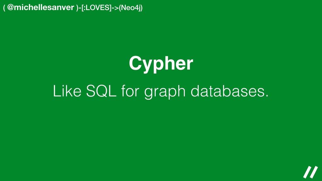 ( @michellesanver )-[:LOVES]->(Neo4j) Cypher Li...
