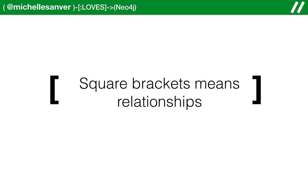 ( @michellesanver )-[:LOVES]->(Neo4j) ] Square ...