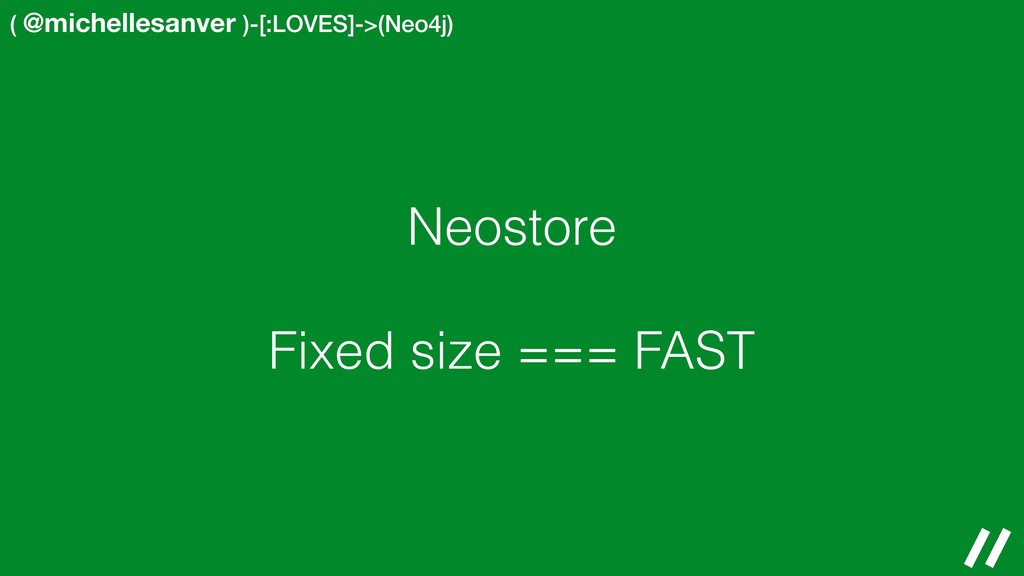 ( @michellesanver )-[:LOVES]->(Neo4j) Neostore ...