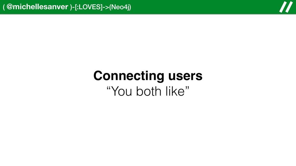 ( @michellesanver )-[:LOVES]->(Neo4j) Connectin...