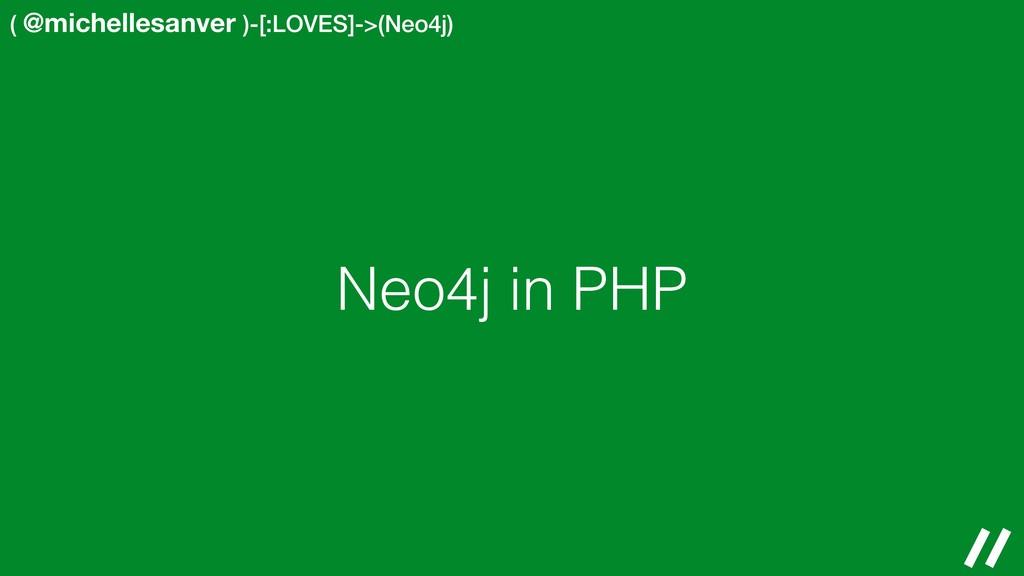 ( @michellesanver )-[:LOVES]->(Neo4j) Neo4j in ...