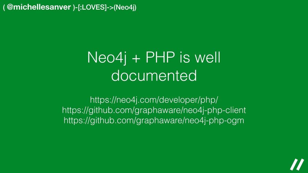 ( @michellesanver )-[:LOVES]->(Neo4j) Neo4j + P...