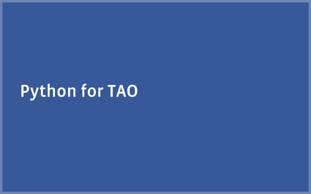 Python for TAO