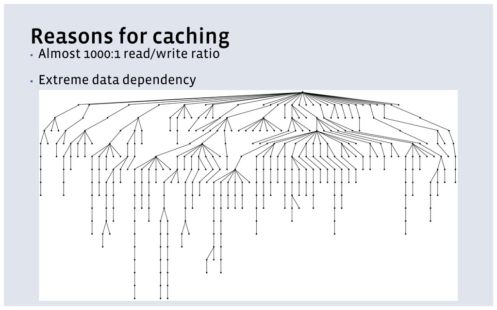 Reasons for caching ▪ Almost 1000:1 read/write ...