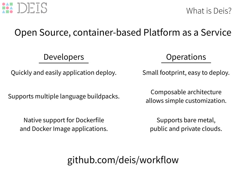 What is Deis? Open Source, container-based Plat...