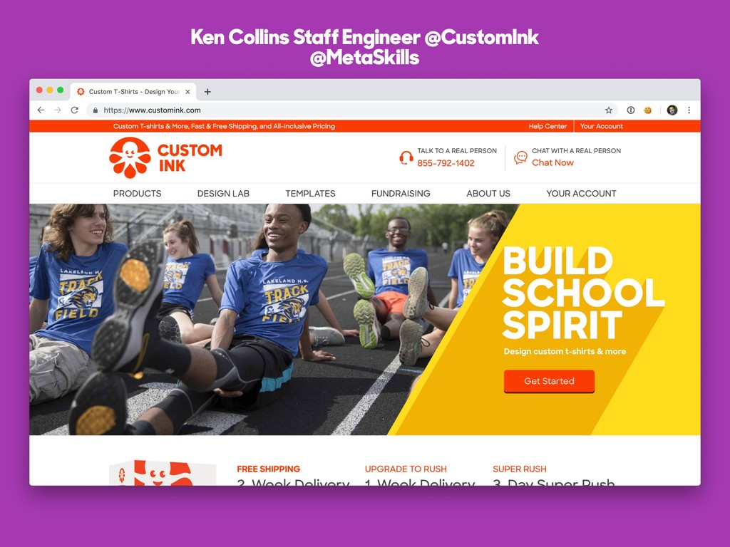Ken Collins Staff Engineer @CustomInk @MetaSkil...