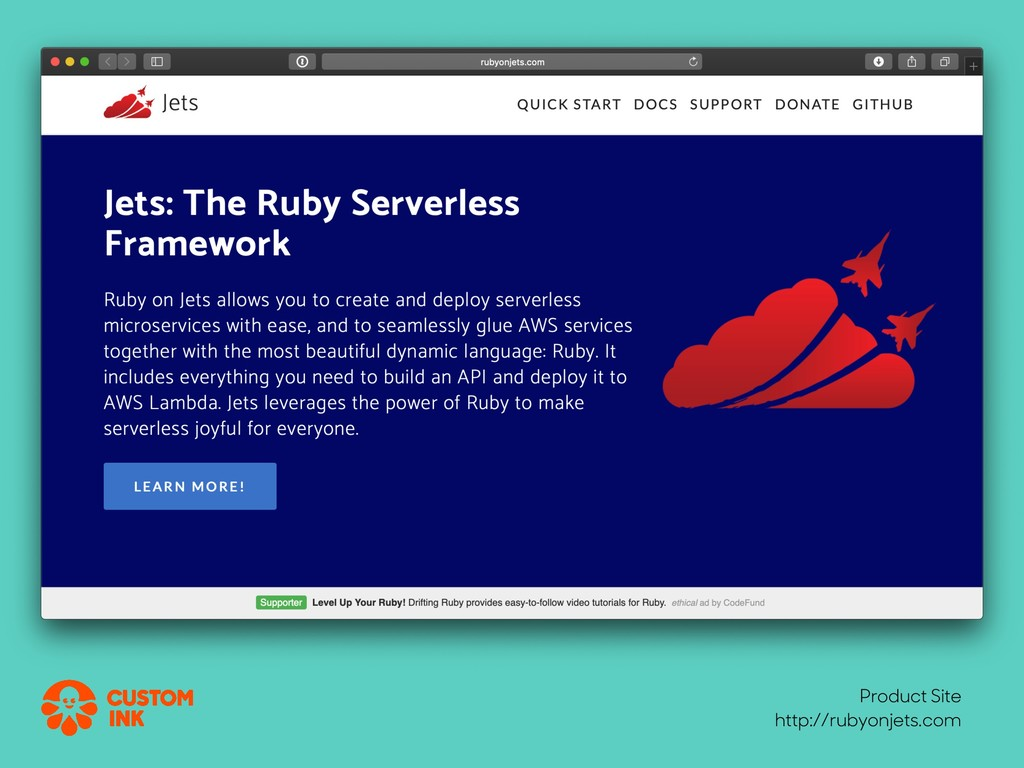 Product Site http://rubyonjets.com