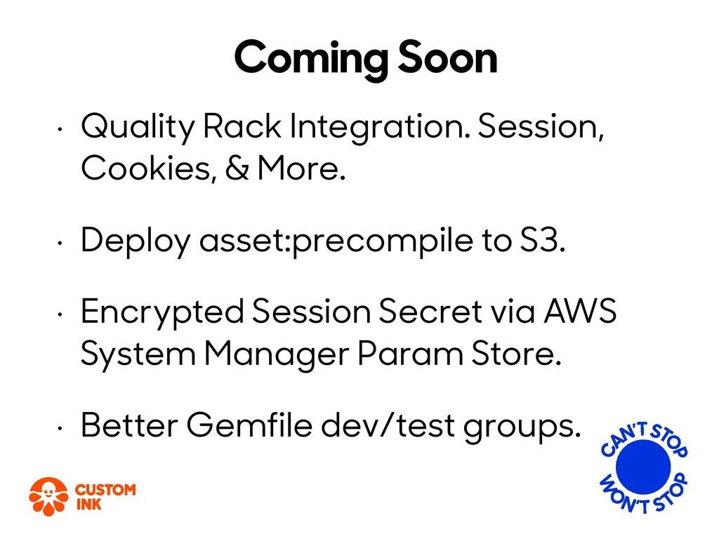 Coming Soon • Quality Rack Integration. Session...