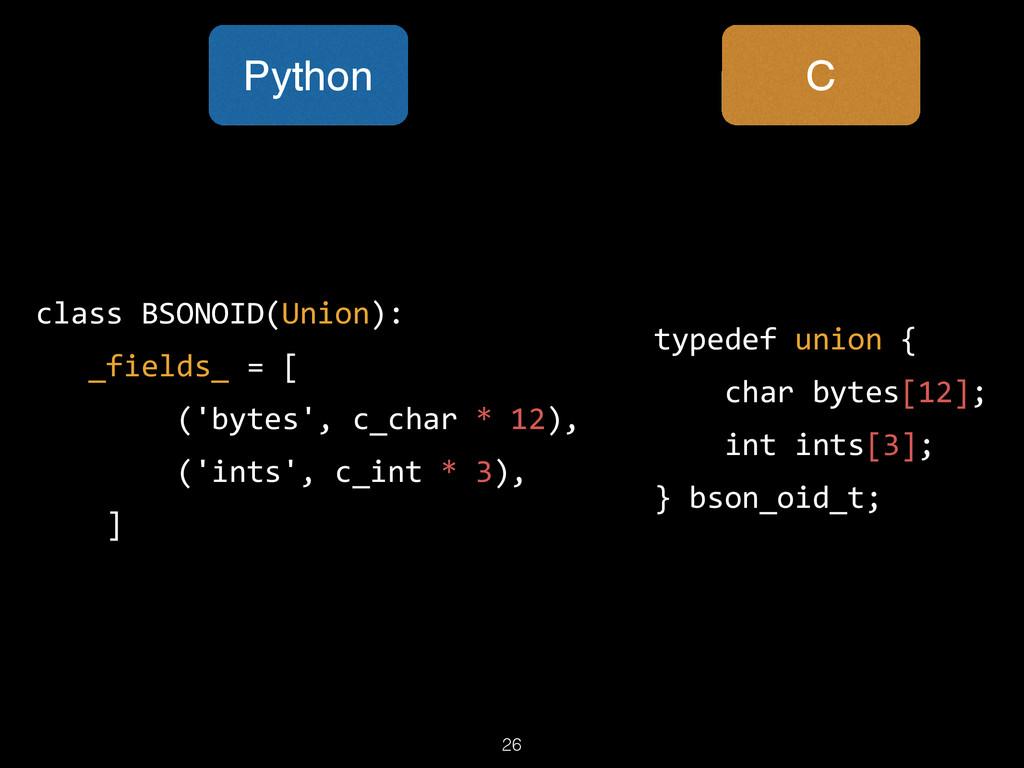 26 typedef union {      char bytes[12];...
